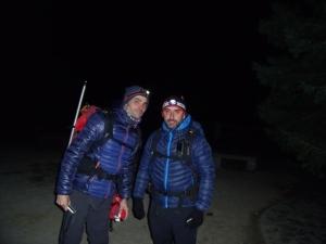 Saliendo de Noche desde el Puerto del Saucillo.