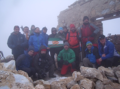El grupo en la cima del Lucero.