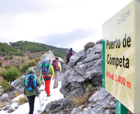 Pasando Puerto de Cómpeta.