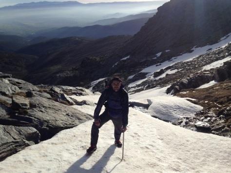 Otra de las palas de nieve del Barranco.