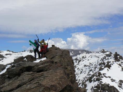 Fotos en la cima de los Tajos del Nevero Oriental.