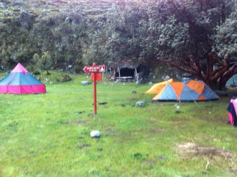 Campamento de Cebollapampa.