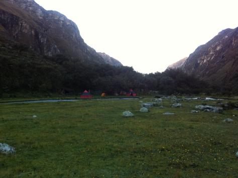 Otra vista del Campamento en Cebollapampa.