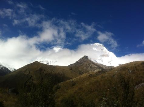 Durante el ascenso vemos el Huascarán Norte.