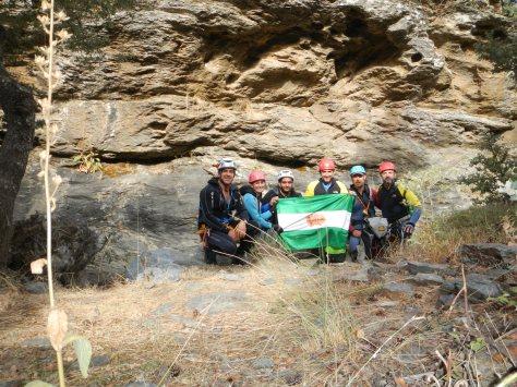 Foto del Grupo al Inicio del Barranco.