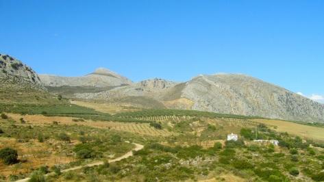Vistas de la Sierra del Valle de Abdalajís, con el Pico Capilla.