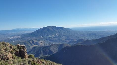 Vista de la Sierra de Mijas.