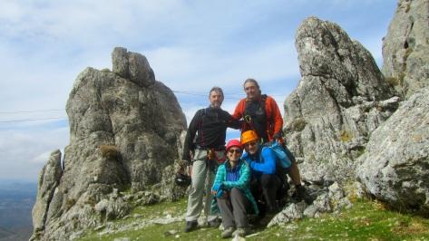 imagen del grupo, .... Fran, Juan, Lourdes e Ismael