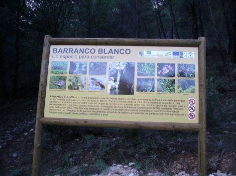 Cartel Informativo de Barranco Blanco.