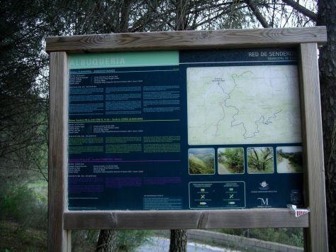 Detalle cartel de las rutas disponibles.