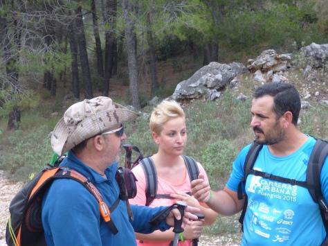 Y hay tiempo para charlar, Emilio, Diego y María José.