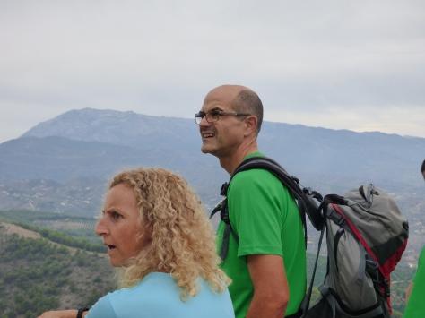 Juan y Marilo contemplando las vistas.