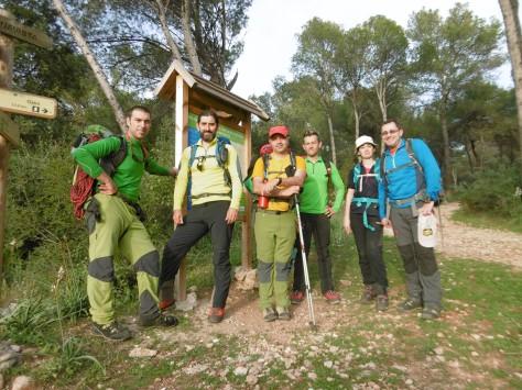 Foto del grupo tras finalizar la travesía.