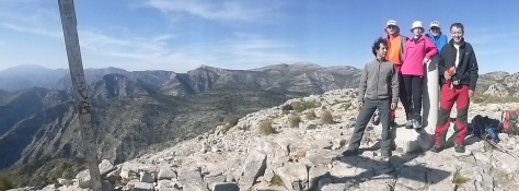 Panorámica del recorrido realizado, visto desde el Cielo.