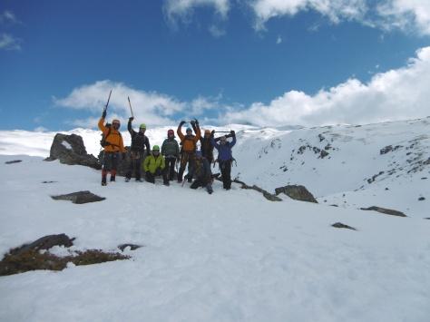 Foto del grupo al finalizar el día.