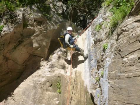Antonio Romero en otra de las cascadas.