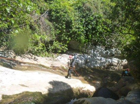 Aquí vemos a Lourdes durante el descenso.