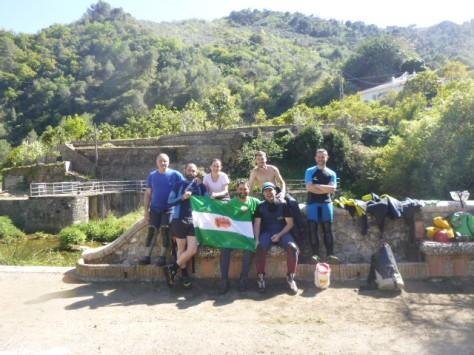 Foto del grupo completo tras finalizar el barranco.