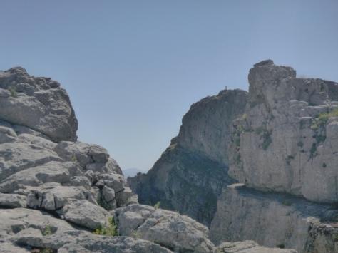 Vista del punto geodésico.