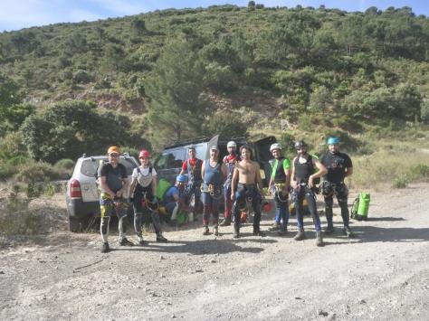 El grupo al comienzo del Barranco.