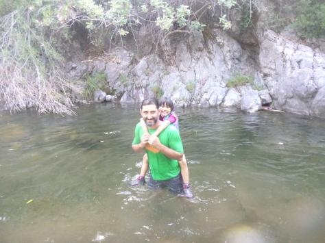 Disfrutando del agua.