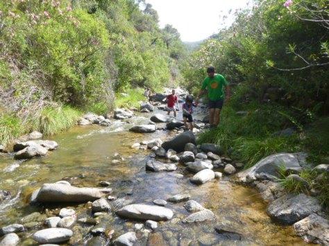 Momento durante el descenso del río.