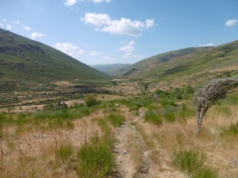 Zona final de la ruta dentro de un valle.