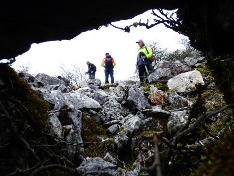 Fotografía desde una cueva.