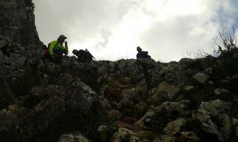 Empezamos el descenso por el pelegrillo.