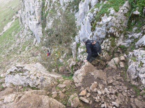 Antonio y Miguel a mediación del descenso.